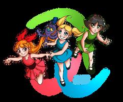 Powerpuff Girls by daekazu