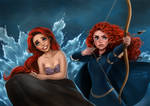 Ariel and Merida