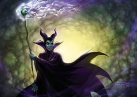 Maleficent from Sleeping Beauty by daekazu