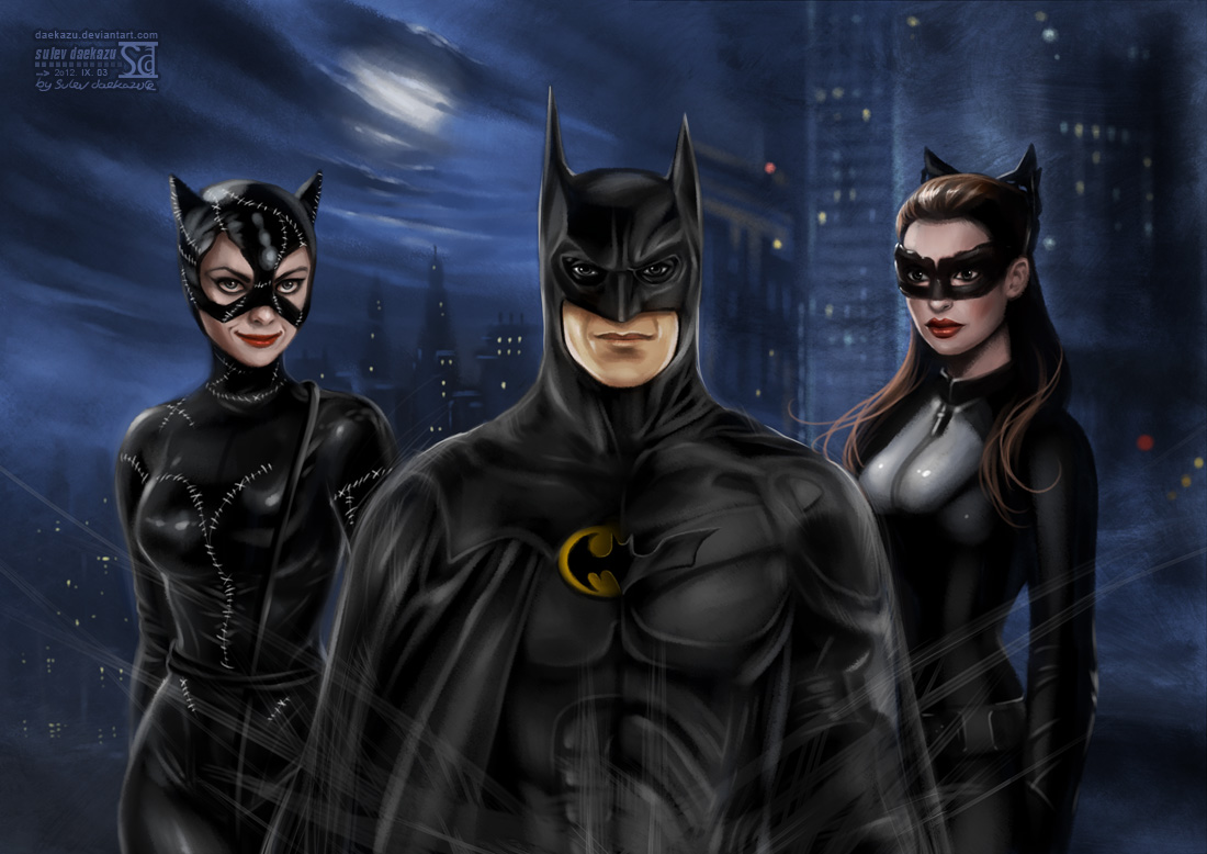 Batman and Catwomen by daekazu
