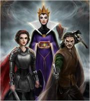 Snow White and Huntsman by Disney by daekazu