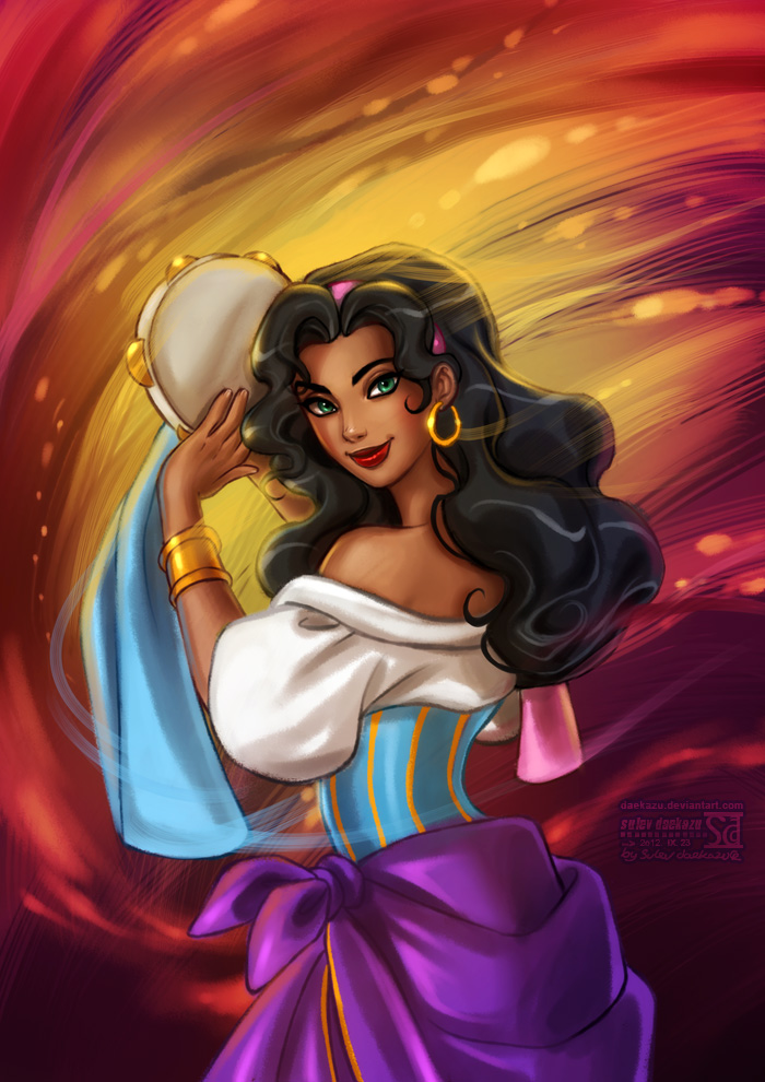 Hunchback of Notre-Dame: Esmeralda by daekazu