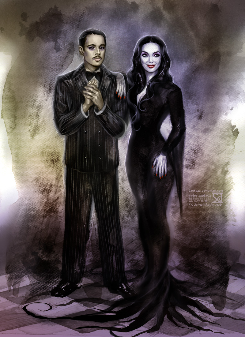 Gomez and Morticia Addams by daekazu