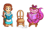 Belle and Cheshire Cat