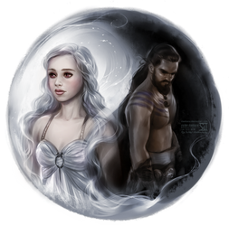 Game of Thrones: Khaleesi and Khal by daekazu