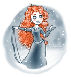 Winter Merida by daekazu