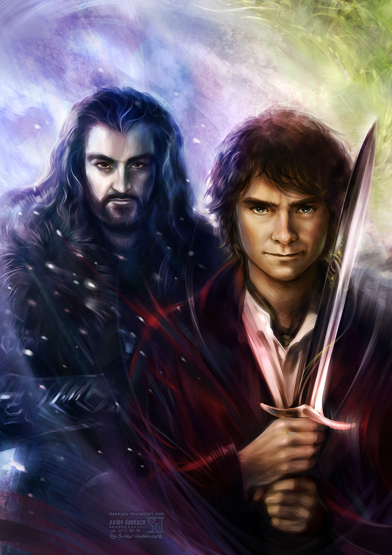Hobbit: Thorin and Bilbo by daekazu