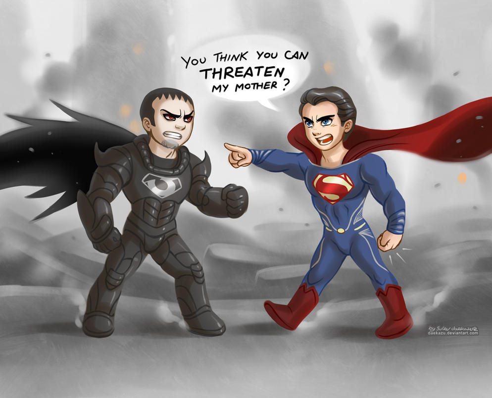 Man of Steel: Zod and Kal by daekazu