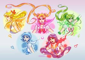 Sailor Moon: Golden 5 by daekazu