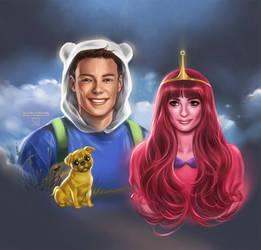 Adventure Time: Glee by daekazu