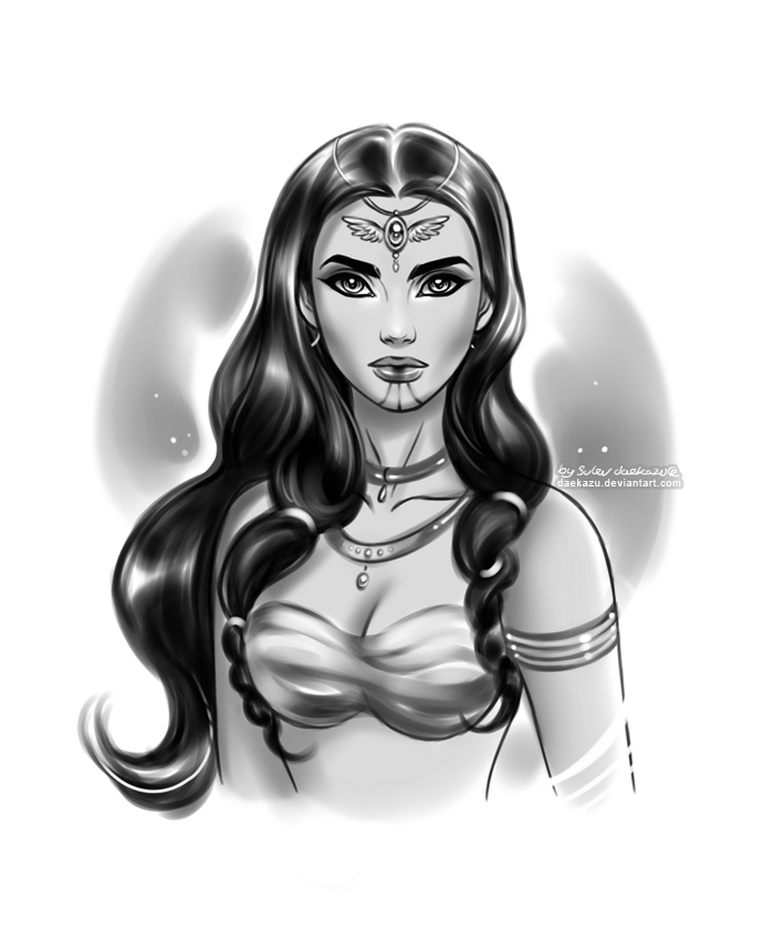 Priestess Taera by daekazu
