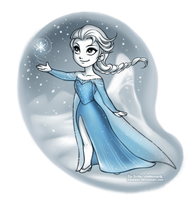 Winter Elsa by daekazu