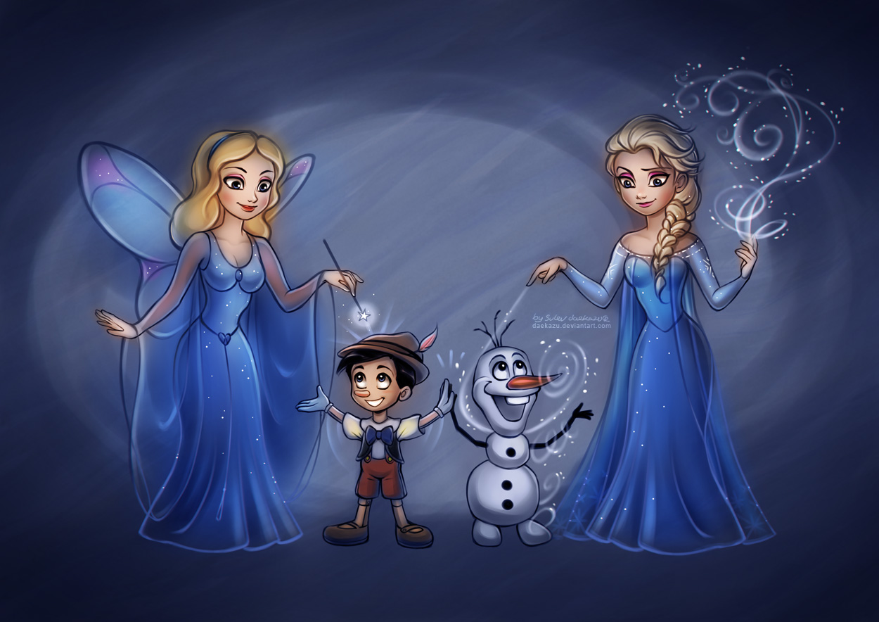 Blue Fairy and Elsa