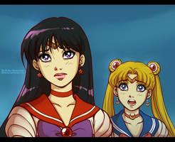 Sailor Moon: Rei and Usagi by daekazu