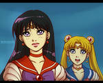 Sailor Moon: Rei and Usagi