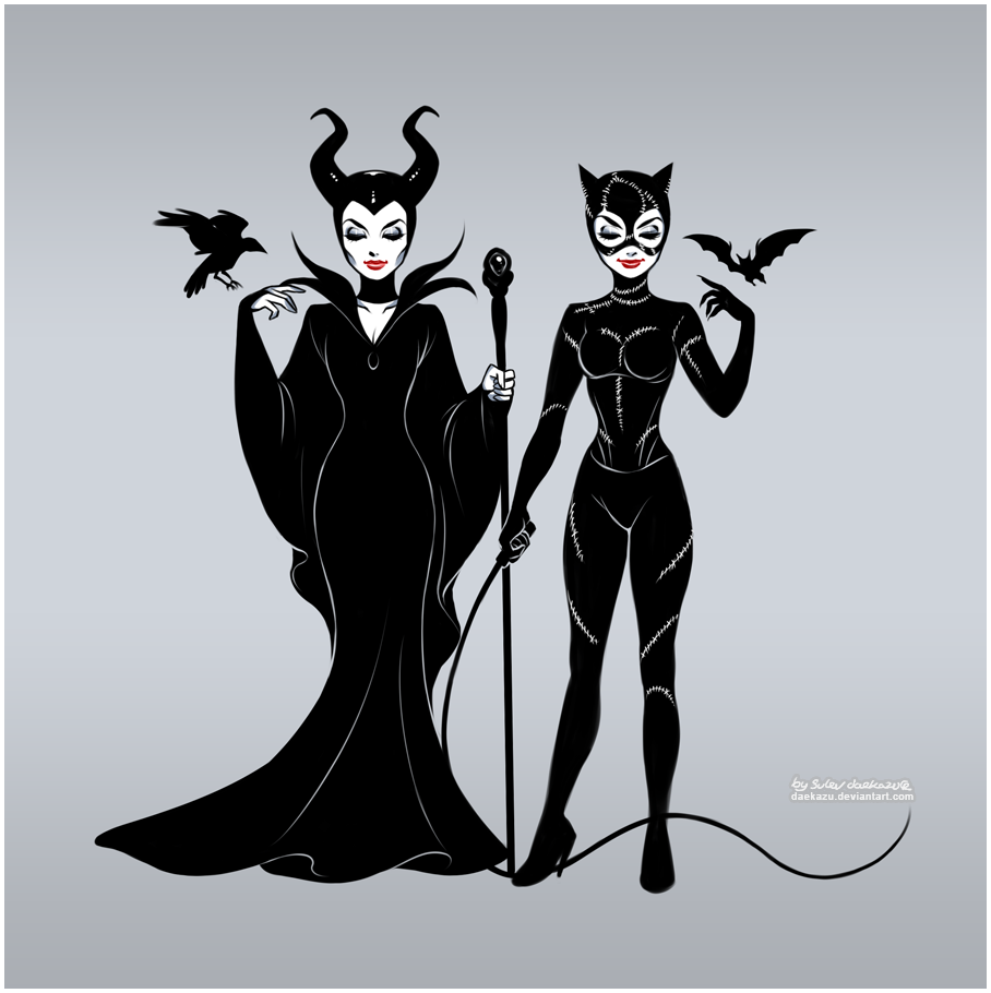 Maleficent And Catwoman By Daekazu On Deviantart