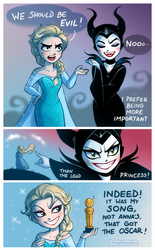 Elsa and Maleficent