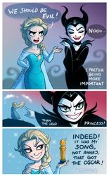 Elsa and Maleficent by daekazu