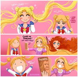 Sailor Moon: Crazy Hair by daekazu