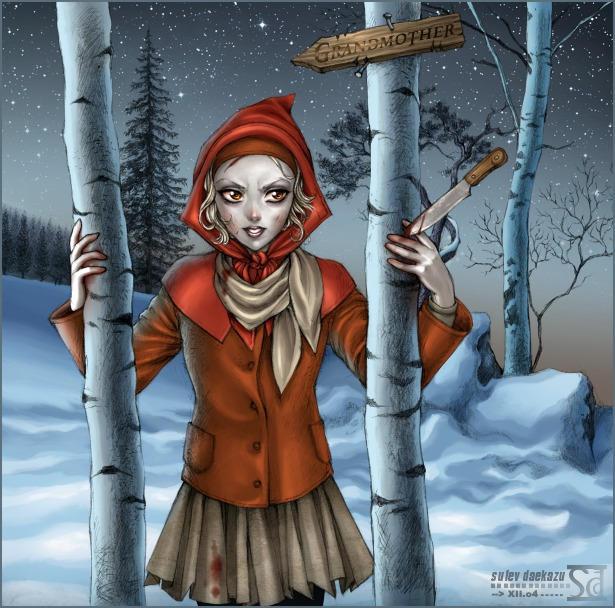 Little Bloody Riding Hood by daekazu