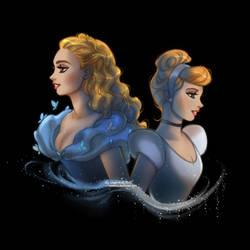 Cinderella: Ella and Cindy by daekazu