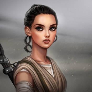 Rey: Star Wars Episode VII The Force Awakens by daekazu