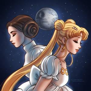Princess Leia + Princess Serenity