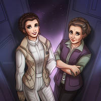 Star Wars: Princess Leia + General Leia by daekazu