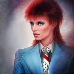 David Bowie: Life on Mars by daekazu