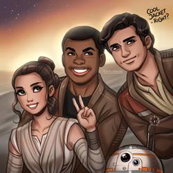 Star Wars: Rey, Finn, Poe and BB-8
