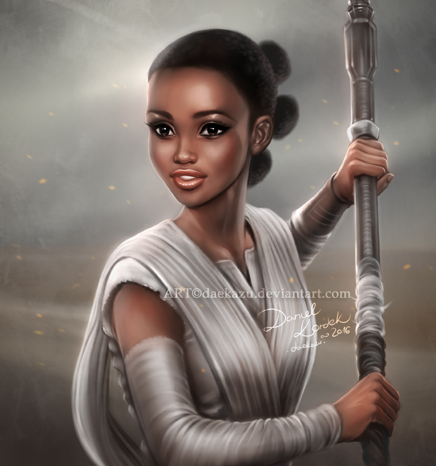 Star Wars: Rey Nyong'o by daekazu