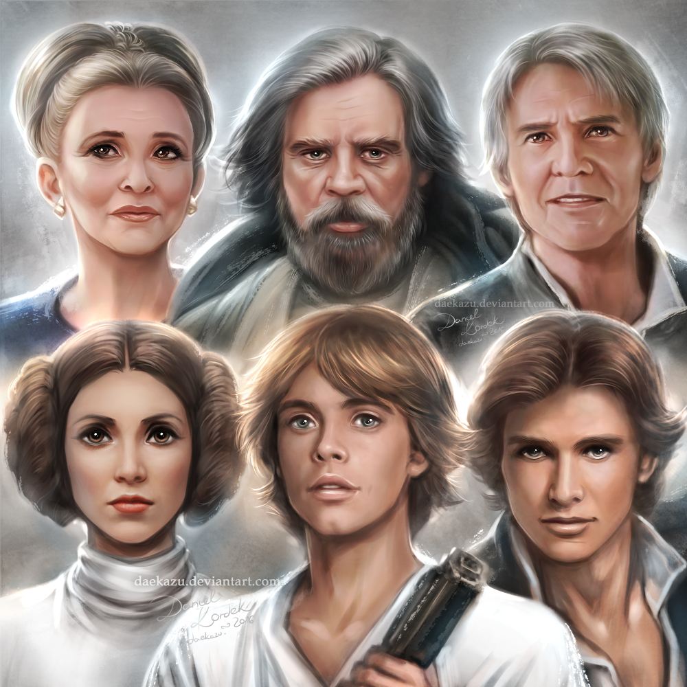 Star Wars: Past and Present Portraits