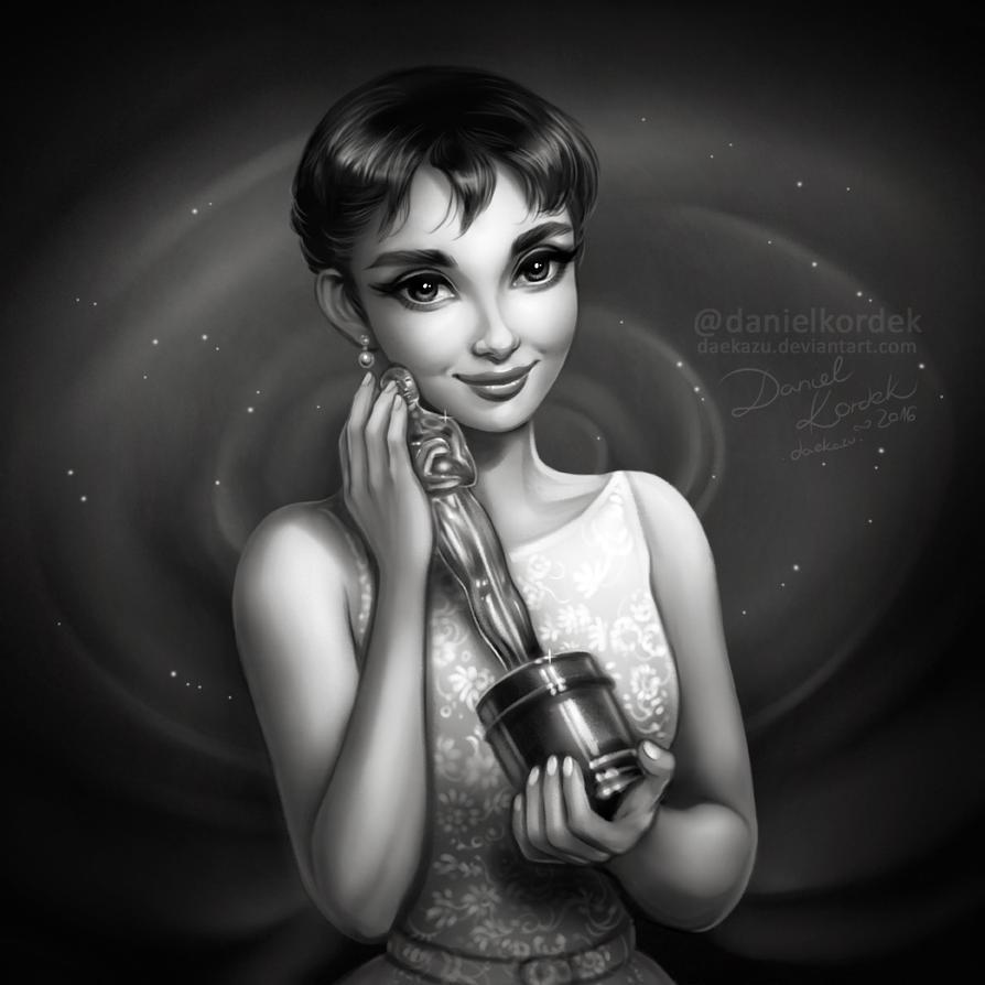 Audrey Hepburn: 1954 Oscars by daekazu