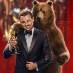 Leonardo Dicaprio: 2016 Oscars by daekazu