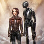 Rogue One: Jyn + K-2SO