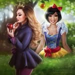 Cassey Ho: Evil Queen and Snow White by daekazu
