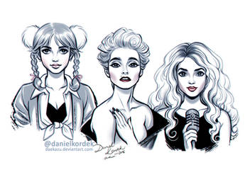 Inktober: Britney, Madonna and Shakira