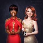 Oscars: Viola Davis and Emma Stone
