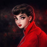 Audrey in Red