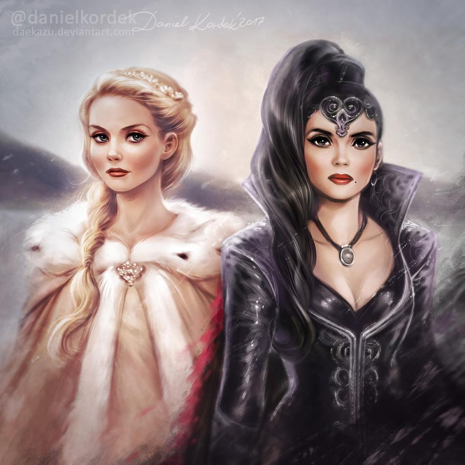 Once Upon A Time: Emma + Regina By Daekazu On DeviantArt