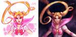 Sailor Moon: Old vs New by daekazu