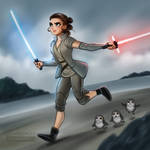 Star Wars the Last Jedi: Rey and Porgs