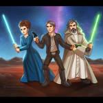 Star Wars: Leia + Han + Luke