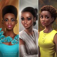 3 faces of Lupita by daekazu