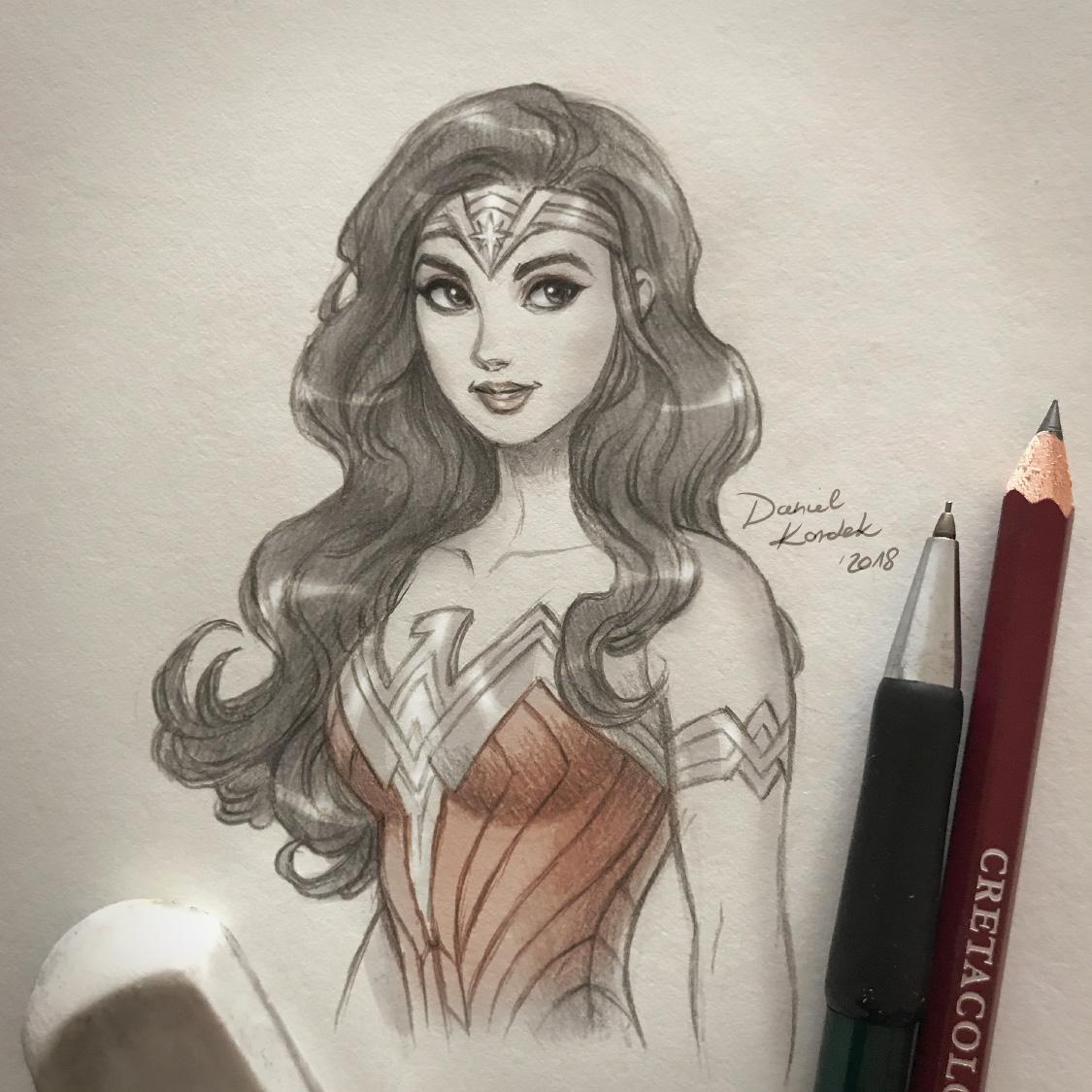 Wonder Woman Sketch by daekazu