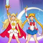 She-Ra vs Sailor Moon