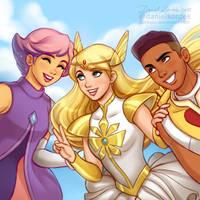 She-Ra, Glimmer + Bow by daekazu