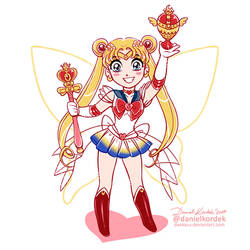 Lil Super Sailor Moon by daekazu