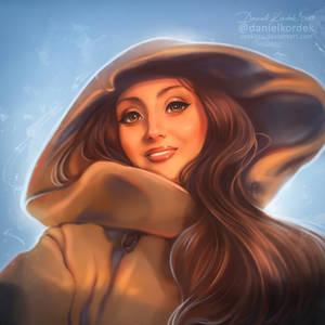 Lady in Hood