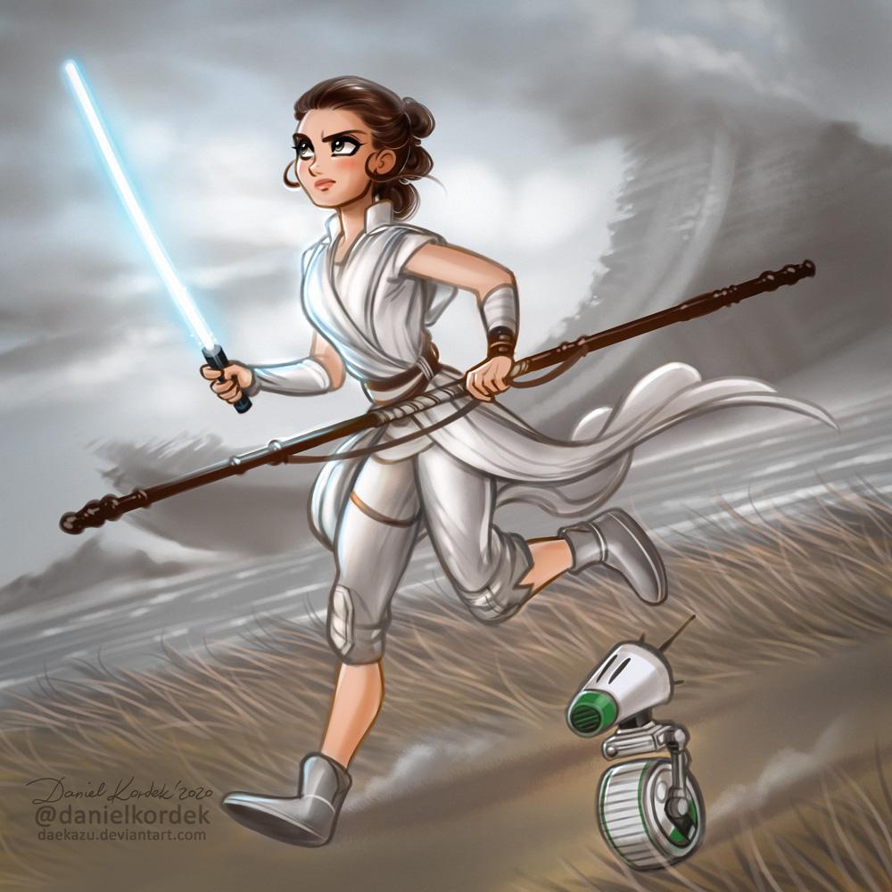 Star Wars The Rise Of Skywalker Rey By Daekazu On Deviantart
